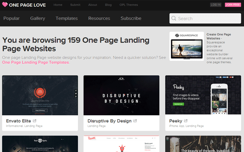 One-Page-Landing-Page-Websites